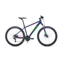 Велосипед FORWARD APACHE 3.2 disc 21ск. 15'' фиолетовый/зеленый(2021)
