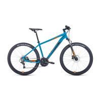 Велосипед FORWARD APACHE 2.0 disc 21ск. 15'' синий/оранжевый
