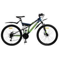 Велосипед FORWARD RAPTOR 2.0 disc 21ск, 18'' синий мат.