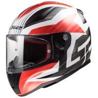 Шлем (интеграл) FF353 RAPID GRID white red XL