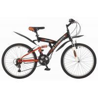 Велосипед Stinger Banzai 14'' 2-х подв. сталь, черный