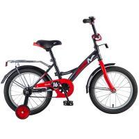 Велосипед NOVATRACK 12'', STRIKE, черный-красный #125958