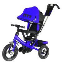 Велосипед 3-х кол JD7BB, надув.колеса 12 и 10, синий