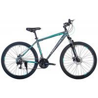 Велосипед HARTMAN Hurrikan Pro Disk 19'' 21ск. алюм, черный серо-оранж. мат