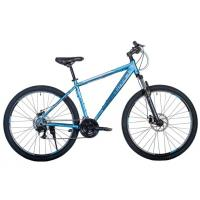 Велосипед HARTMAN Ingword Disk 19'' 21ск. алюм, темн.хром/голубой(2021)