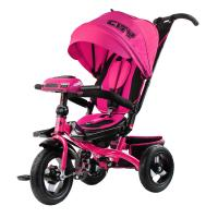 Велосипед 3-х кол H5HР, надув.колеса 12 и 10, фара, розовый