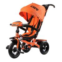 Велосипед 3-х кол H5HО, надув.колеса 12 и 10, фара, оранжевый