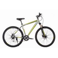 Велосипед HARTMAN Hurrikan NEXT HIDRO Disk 21'' 24ск. алюм, сер.метал зел-бел мат