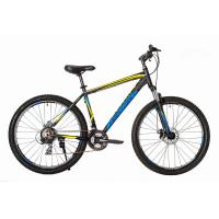 Велосипед HARTMAN Hurrikan Disk 21 21ск. алюм, черно желтый мат