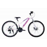 Велосипед HARTMAN Sintra disk 17'' 21ск. алюм, белый/сирен(2021)