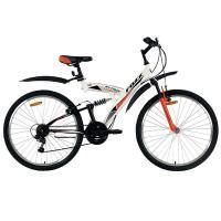 Велосипед Foxx Attack  V, 18ск, белый/оранжевый