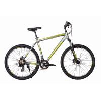 Велосипед HARTMAN Hurrikan Disk 21 21ск. алюм, серо-салатовый мат.