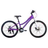 Велосипед HARTMAN Diora Pro Disk 12,5 18ск. алюм, сиреневый/розовый(2021)