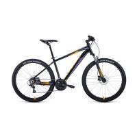 Велосипед FORWARD APACHE 1.0 21ск, 17'' черный/красный мат.