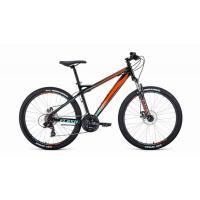 Велосипед FORWARD FLASH 2.2 disc 21ск, 19'' черный/оранж(2021)