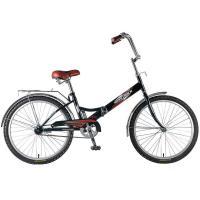 Велосипед NOVATRACK 24'', FS, скл., черный