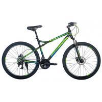 Велосипед HARTMAN Black stone Pro Disk 17 21ск. алюм, черн/зелен/голубой(2021)