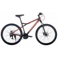 Велосипед HARTMAN Black stone Pro Disk 17 21ск. алюм, черн-красн. серый мат.