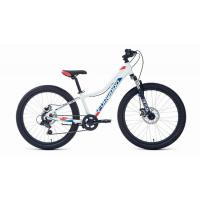 Велосипед FORWARD TWISTER 2.2 disk 7ск, 12'' белый/красный(2021)
