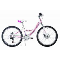 Велосипед HARTMAN Alba PRO Disk, 12,5 18ск, алюм, бело-фиолет мат.
