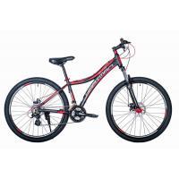 Велосипед HARTMAN Blaze Pro LX Disk 15 21ск. алюм, черный/красный(2021)