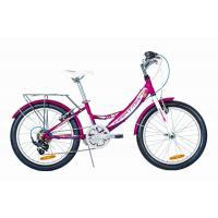 Велосипед HARTMAN Alba V-br, 11 6ск, сталь, сиренево-белый