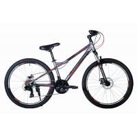 Велосипед HARTMAN Black stone Pro Disk 14'' 21ск. сталь, черно-красн.мат.