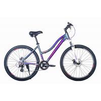 Велосипед HARTMAN Diora Pro Disk 19 21ск. алюм, графит сирен.розовый мат.