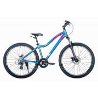 Велосипед HARTMAN Ultra Pro Disk 17 21ск. алюм, темно-серый синий розовый мат