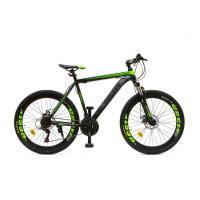 Велосипед HOGGER 'PHOENIX' MD 17'' 21ск, сталь зелено-серо-черный