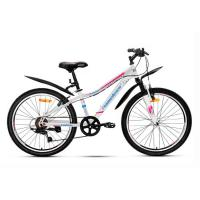 Велосипед Nameless S4100W, белый/розовый