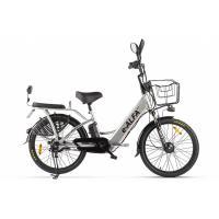 Велогибрид GREEN CITY e-ALFA new серебристый-2152