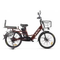Велогибрид GREEN CITY e-ALFA LUX коричневый-2397