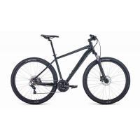 Велосипед FORWARD APACHE 3.2 disc 21ск. 19'' черный мат/черный(2021)