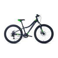 Велосипед FORWARD TWISTER 2.2 disk 7ск, 12'' черный/ярко-зеленый(2021)