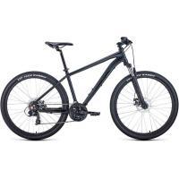 Велосипед FORWARD APACHE 2.2 SHIMANO disc 21ск. 17'' черный мат. (2021)