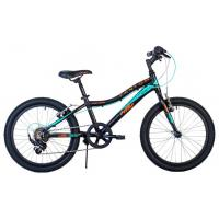 Велосипед HARTMAN Fantom V-br, 11 6ск, алюм, черный/бирюз(2021)