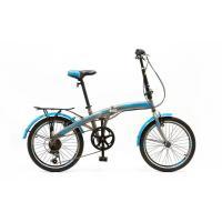 Велосипед HOGGER 'FLEX' V 7ск, сталь серо/голубой