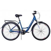 Велосипед HARTMAN Runa NX 17'' 3ск. алюм, планет.втул. синий/розовый(2021)
