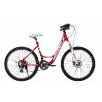 Велосипед HARTMAN Runa Disk 19'' 21ск. алюм, рубин/белый(2021)