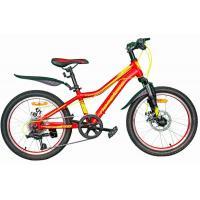 Велосипед Nameless J2200D 11', красный/желтый (2021)
