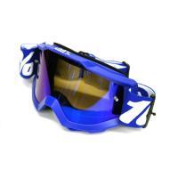 Очки кроссовые HX GOGGLES 100% BLUE WHITE