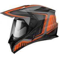 Шлем (Мотард) MT SYNCHRONY DUO SPORT TOURER matt platinum black orange XXL