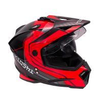 Шлем (мотард) KIOSHI Fighter 802 с очками Красный M