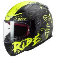 Шлем (интеграл) FF353 RAPID NAUGHTY Matt Black Hi-Vis Yellow M