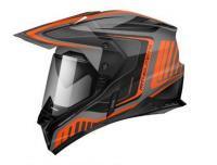 Шлем (Мотард) MT SYNCHRONY DUO SPORT TOURER matt platinum black orange M