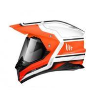Шлем (Мотард) MT SYNCHRONY DUO SPORT VINTAGE gloss pearl white orange fiuor XL