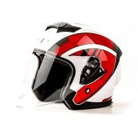 Шлем (открытый) HIZER J222 (L) #1 white/red  2 визора