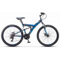 Велосипед Stels Focus MD 21ск 18 черный/синий арт.V010