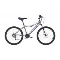 Велосипед Black One Ice 24 D серый/белый/фиолетовый